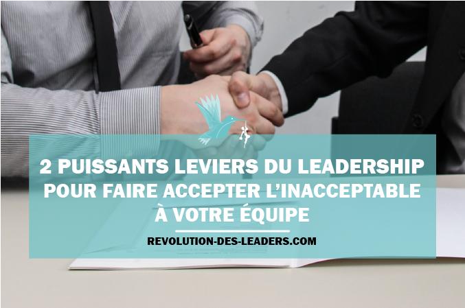 2 puissants leviers du leadership pour faire accepter l'inacceptable à votre équipe